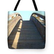 Arched Pedestrian Bridge At Martinez Regional Shoreline Park In Martinez California . 7d10526 Tote Bag