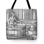 Archimedes And Hydrostatics Tote Bag