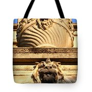 Architectural Detail . Large Urn With Lion Gargoyle  . Hearst Gym . Uc Berkeley . 7d10191 Tote Bag