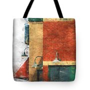 Arcitecture  Painted Effect Tote Bag