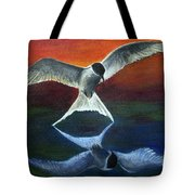 Arctic Tern Reflection Tote Bag