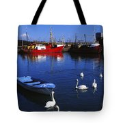 Ardglass, Co Down, Ireland Swans Near Tote Bag