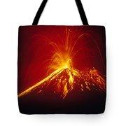 Arenal Volcano Erupting Tote Bag