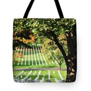 Arlington National Cemetery In The Fall  Tote Bag