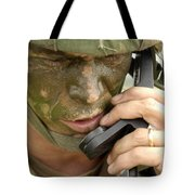 Army Master Sergeant Communicates Tote Bag