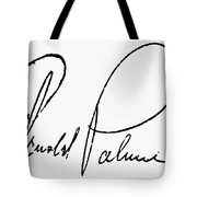 Arnold Palmer (1929-  ) Tote Bag