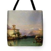 Arona And The Castle Of Angera Lake Maggiore Tote Bag