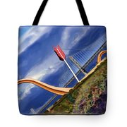 Arrow Through Bay Bridge Tote Bag