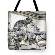Art Gallery Statue In Cardiffs Tote Bag
