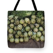 Artichokes And Greens Arranged Tote Bag