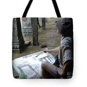 Artist At Ankor Wat Tote Bag