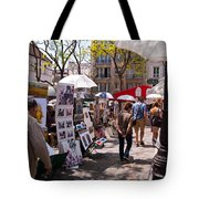 Artist Colony Of Montmartre Tote Bag