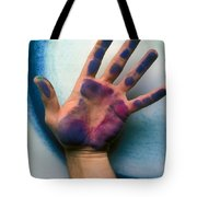Artist Hand Tote Bag by Garry Gay