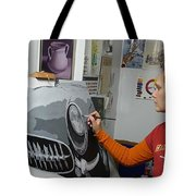 Artist In Action Tote Bag