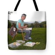 Artist In Action En Plein Air Tote Bag