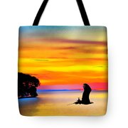 Artistic Conception Eagle Sundown Tote Bag