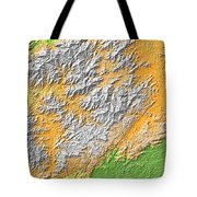 Artistic Map Of Southern Appalachia Tote Bag
