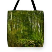 Artistic Water Reflections Tote Bag