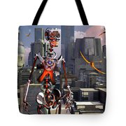 Artists Concept Of A City Of The Future Tote Bag