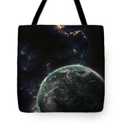 Artists Concept Of A Terrestrial Planet Tote Bag by Tomasz Dabrowski