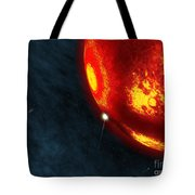 Artists Concept Of An Early Earth Tote Bag by Walter Myers