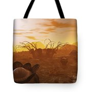 Artists Concept Of Animal And Plant Tote Bag by Walter Myers