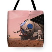 Artists Concept Of How A Martian Tote Bag