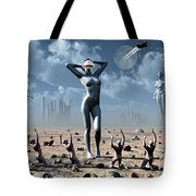Artists Concept Of Mankinds Reliance Tote Bag