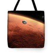 Artists Concept Of Nasas Mars Science Tote Bag