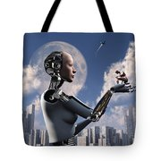 Artists Concept Where Technology Takes Tote Bag by Mark Stevenson
