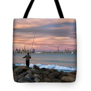 As He Caught His Dinner .... Tote Bag