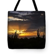 As The Sun Sets In The West  Tote Bag
