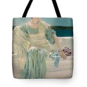 Ask Me No More Tote Bag by Sir Lawrence Alma-Tadema