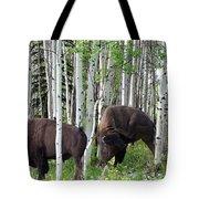 Aspen Bison Tote Bag