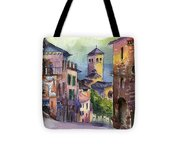 Assisi Street Scene Tote Bag by Lydia Irving