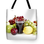 Assorted Fruits On White Tote Bag by Elena Elisseeva