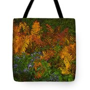Asters And Ferns Tote Bag