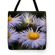 Asters Painterly Tote Bag by Ernie Echols
