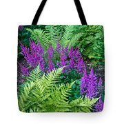 Astilbe And Ferns Tote Bag