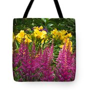 Astilbe And Lilies Tote Bag
