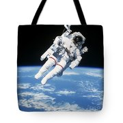 Astronaut Floating In Space Tote Bag