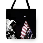 Astronaut Stands Next To The American Tote Bag