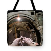 Astronaut Takes A Self-portrat Tote Bag