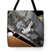 Astronaut Traverses Tote Bag
