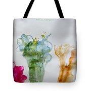 Asymetrical Flowers Tote Bag