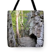 At A Cliff's Edge Tote Bag