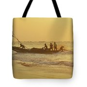 At Dawn In Puri Tote Bag