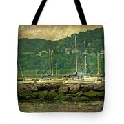 At Home In The Harbor - Atlantic Highlands  Nj Tote Bag