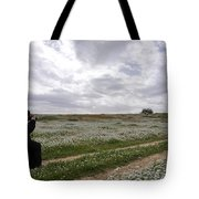 At Lachish Anemone Fields Tote Bag