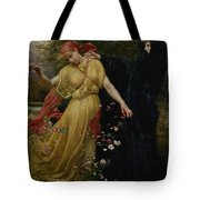 At The First Touch Of Winter Summer Fades Away Tote Bag